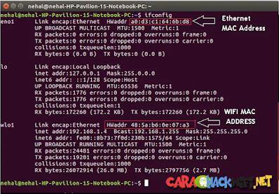 cara cek mac di linux