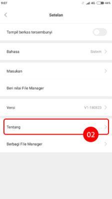 Cara menghilangkan iklan di HP Xiaomi pada aplikasi File Manager 2