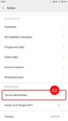 Cara menghilangkan iklan di HP Xiaomi pada aplikasi Keamanan 1