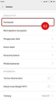 Cara menghilangkan iklan di HP Xiaomi pada aplikasi Pembersih 2