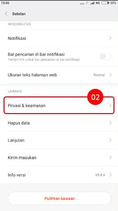 Cara menghilangkan iklan di HP Xiaomi pada aplikasi Mi Browser 2