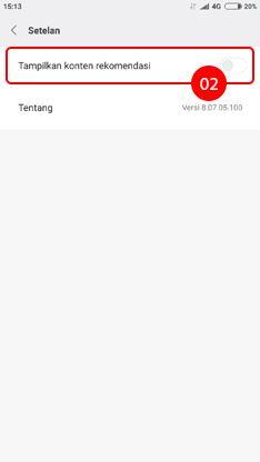 Cara menghilangkan iklan di HP Xiaomi pada aplikasi Unduhan 2