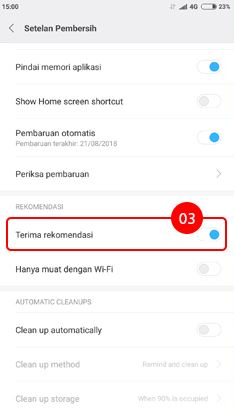 Cara menghilangkan iklan di HP Xiaomi pada aplikasi Pembersih 3