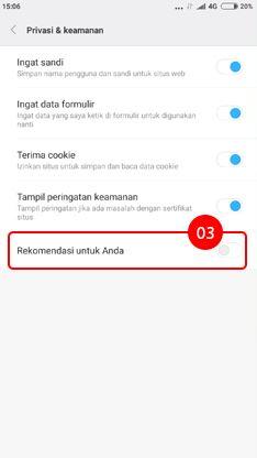 Cara menghilangkan iklan di HP Xiaomi pada aplikasi Mi Browser 3