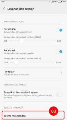 Cara menghilangkan iklan di HP Xiaomi pada aplikasi Musik 3