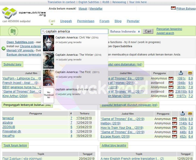 download subtitle indonesia Open Subtitles 2