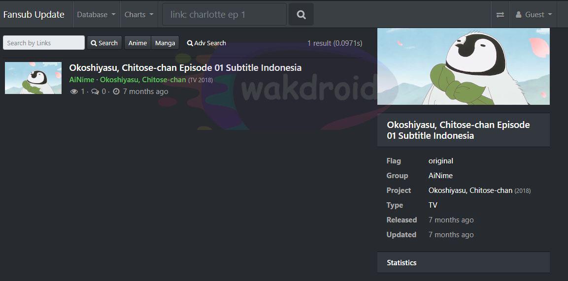download subtitle indonesia fansub update 2